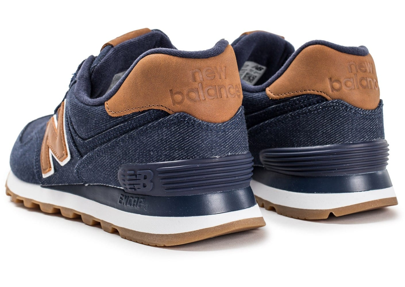 reputable site 08a90 273cb New Balance ML574TXB Denim bleu marine - Chaussures Baskets ...