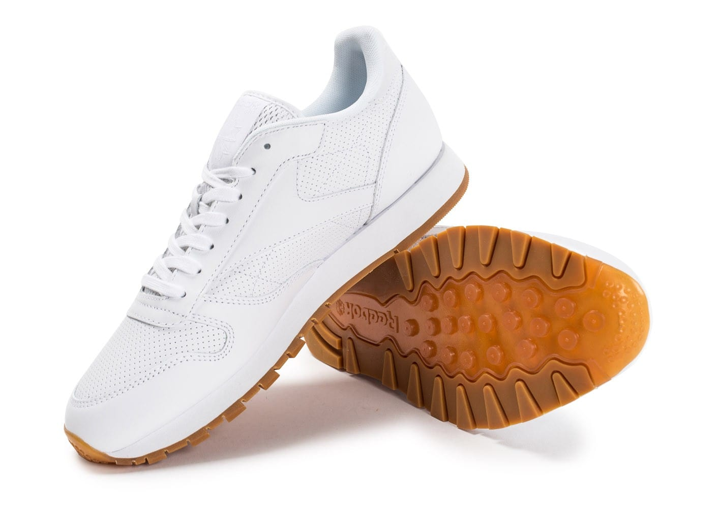 c16eb9f1b3832 Chaussures Leather Chausport blanche Baskets Classic Reebok PG homme UIRwg