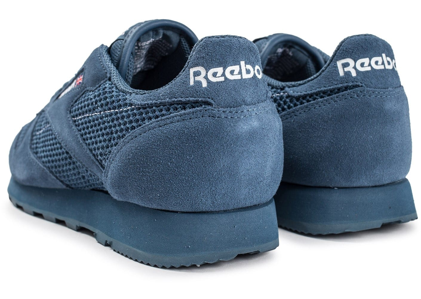 Baskets Classic Chaussures homme bleue Leather Knit Reebok Chausport hCtrdxQs