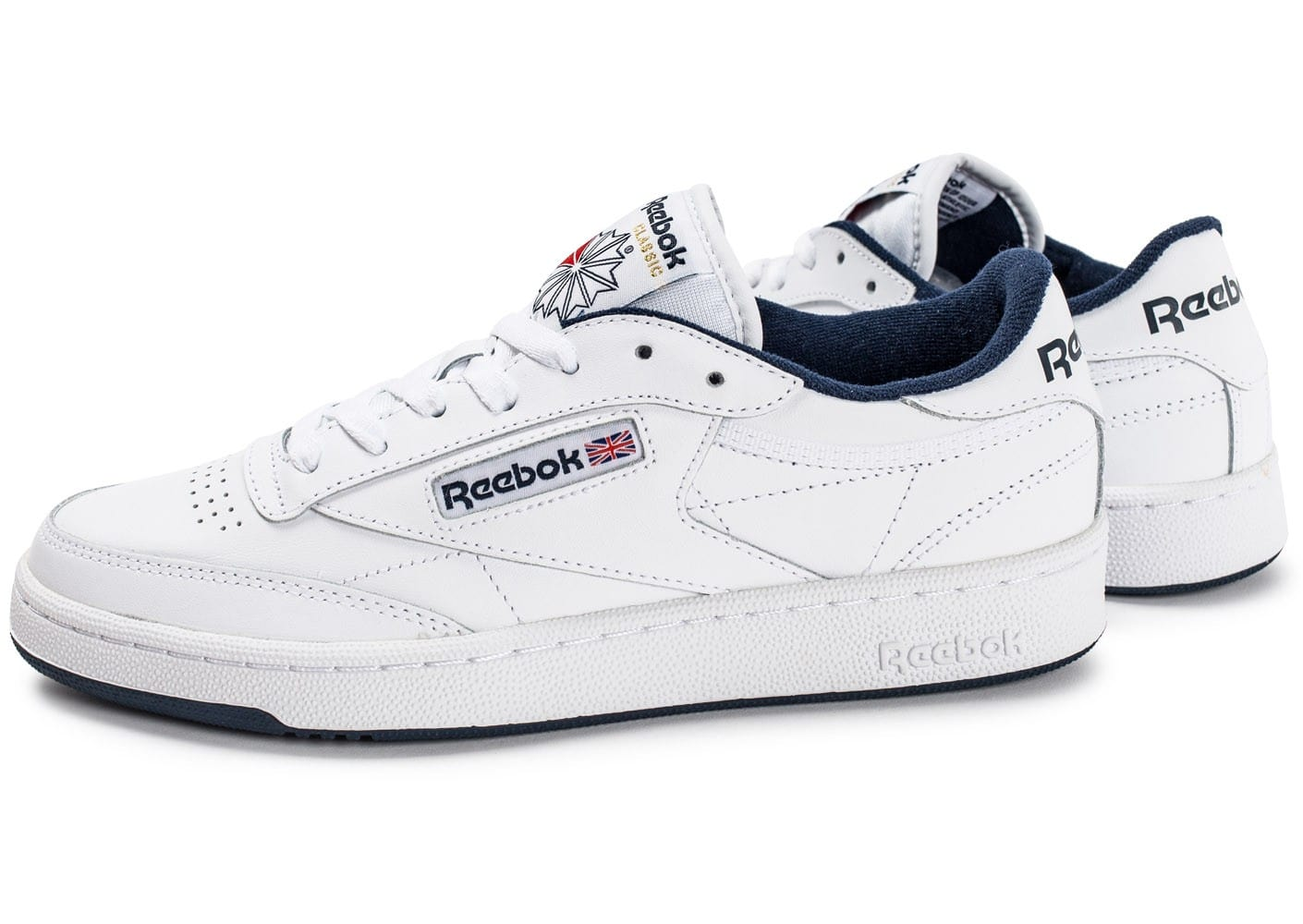 Reebok Baskets basses Club C85 Blanc/Bleu