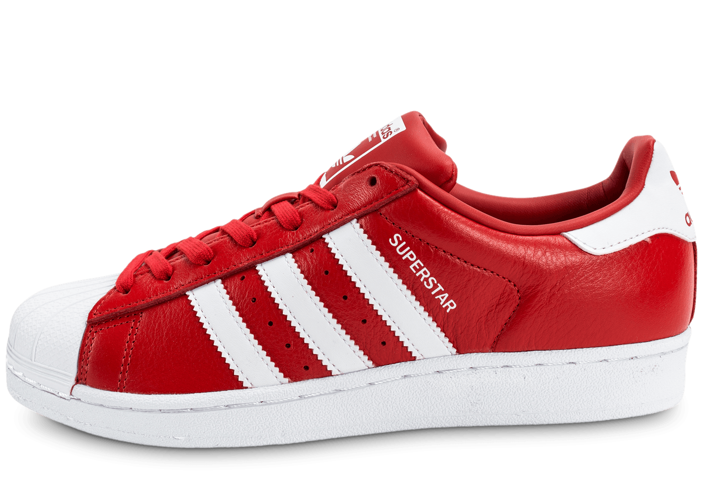 official photos 8b05f ec681 ... spain adidas superstar cuir rouge et blanche chaussures baskets homme  chausport 402ba 1dc1a