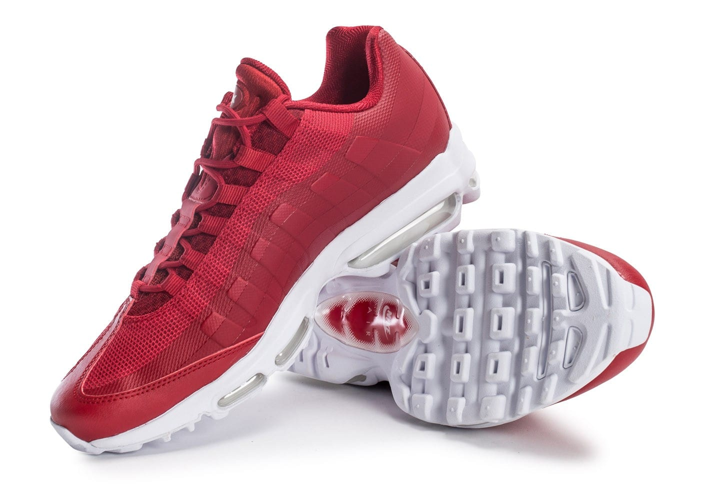 sports shoes bbd09 1b7ae ... Chaussures Nike Air Max 95 Ultra Se rouge vue avant ...