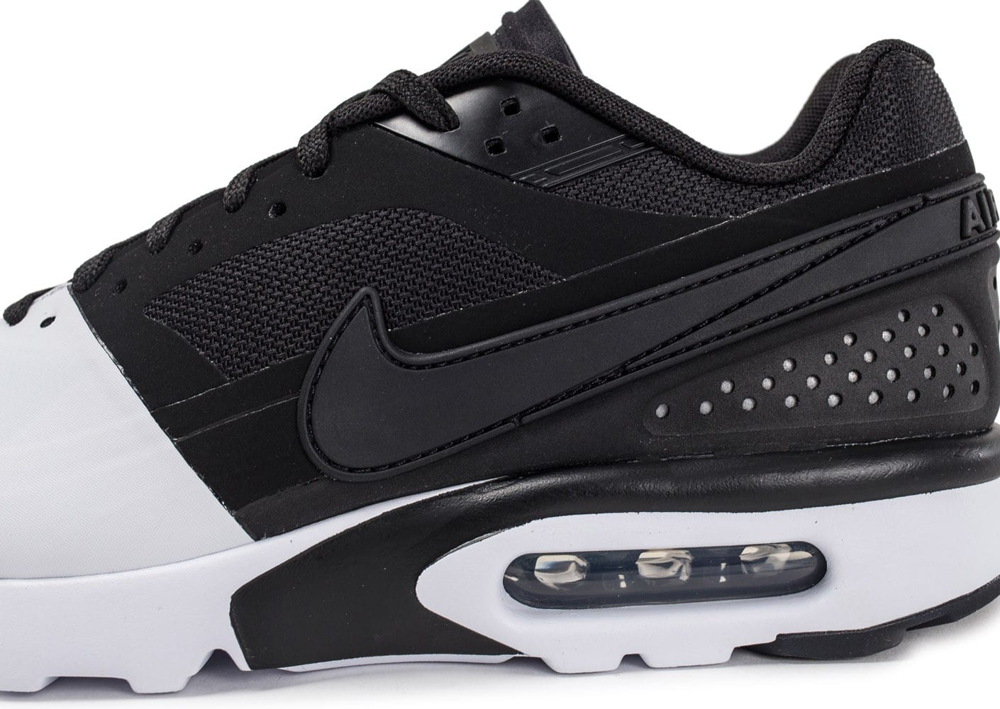 reputable site 64928 f2b76 ... Chaussures Nike Air Max BW Ultra SE noire et blanche vue dessus