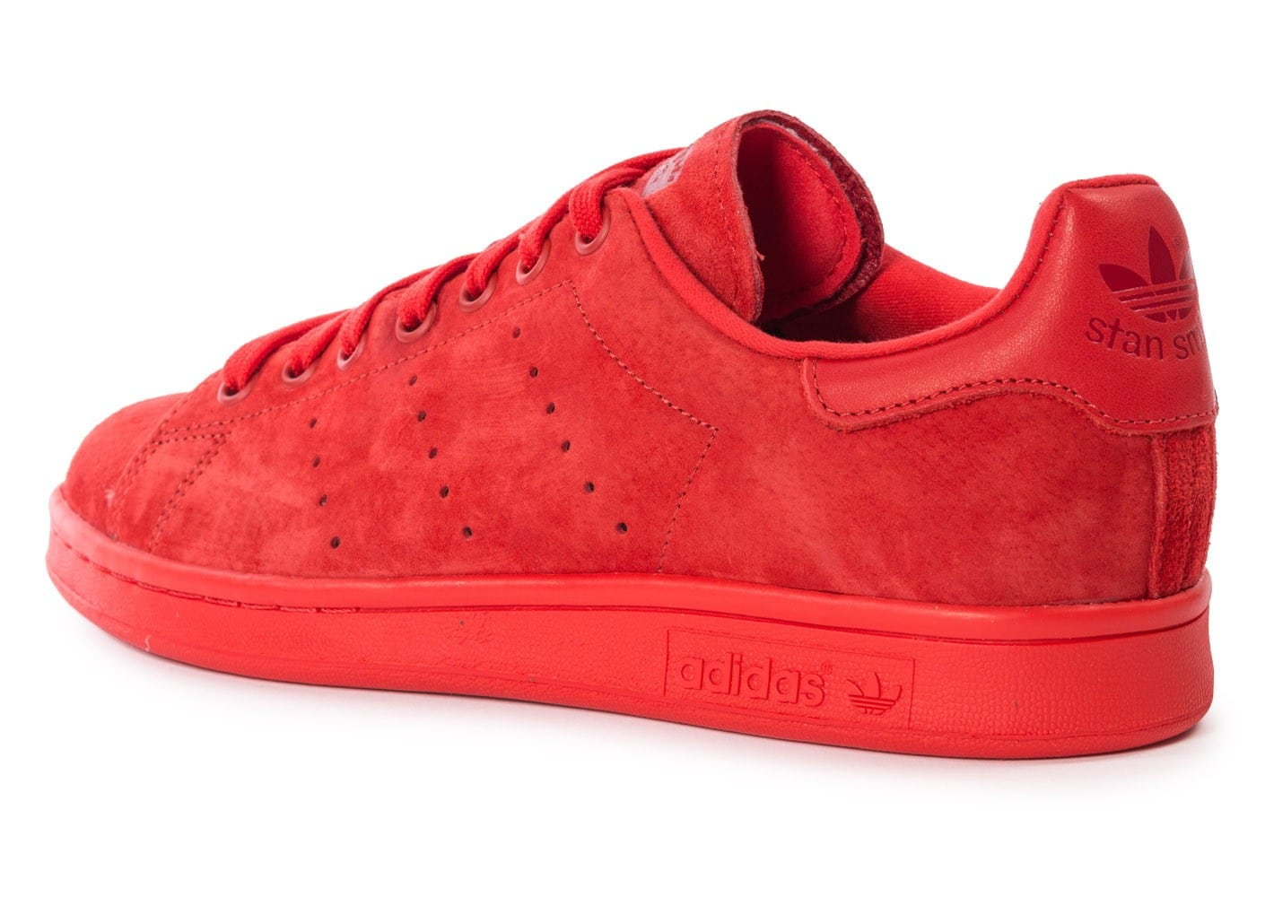 adidas Stan Smith Suede monochrome rouge Chaussures