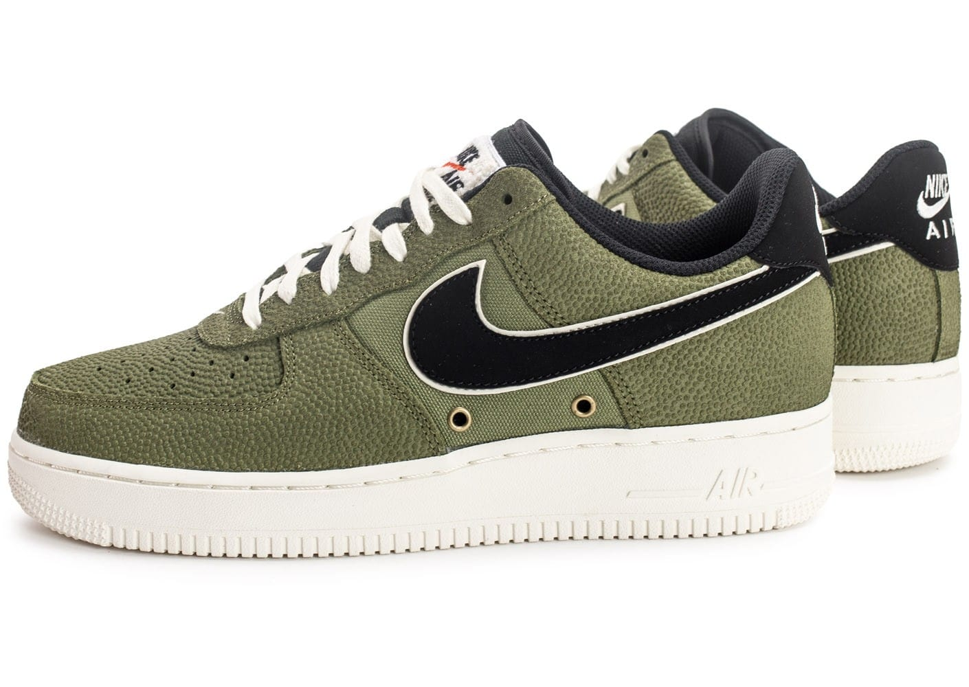 '07 Lv08 Force Chaussures Basketball Nike Verte 1 Air Leather axpTwwqtI