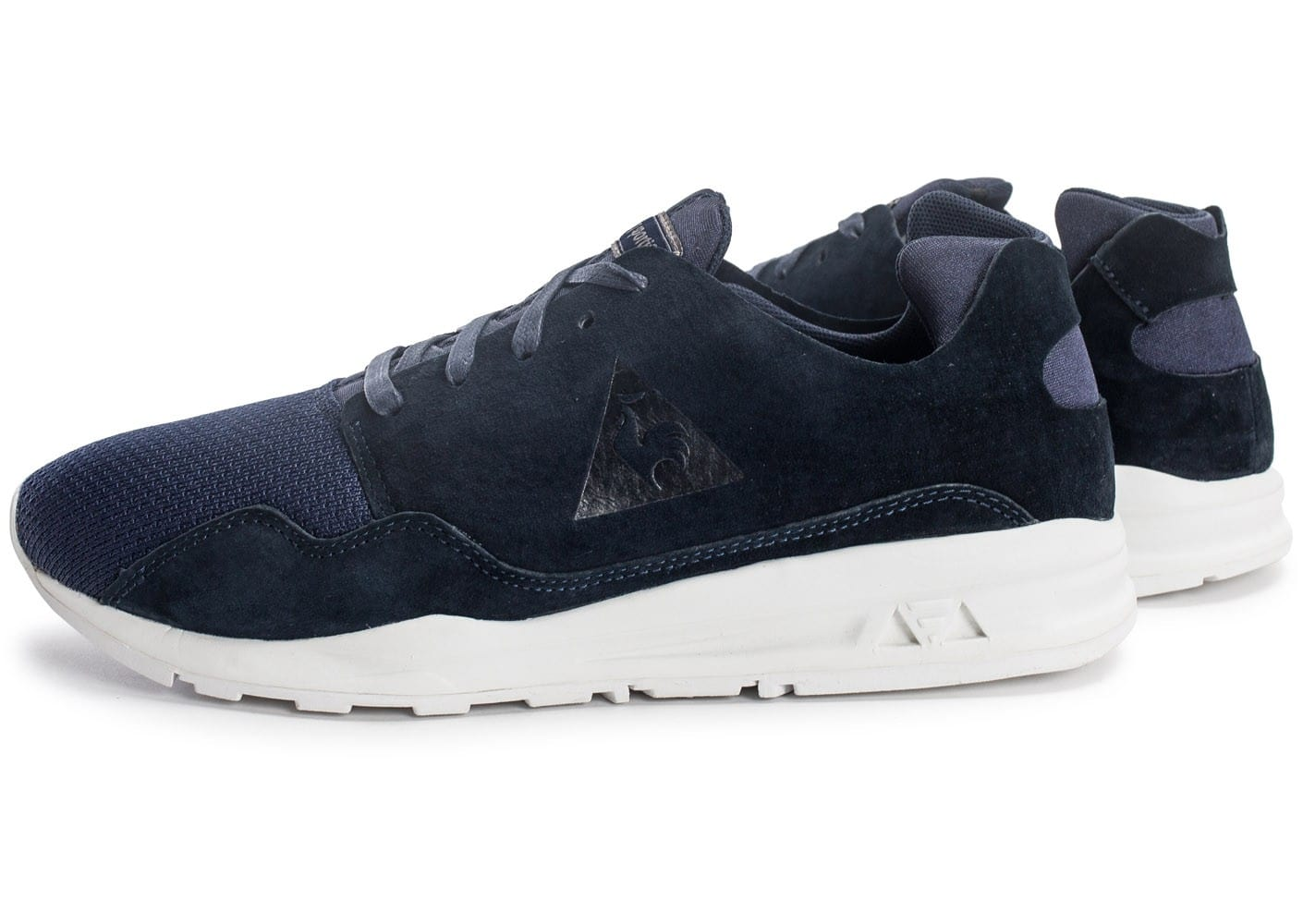 Le Coq Sportif Lcs R Pure Leather/mesh Sneakers & Tennis Basses Homme.  Bleu (Dark Blue) GnJCiV