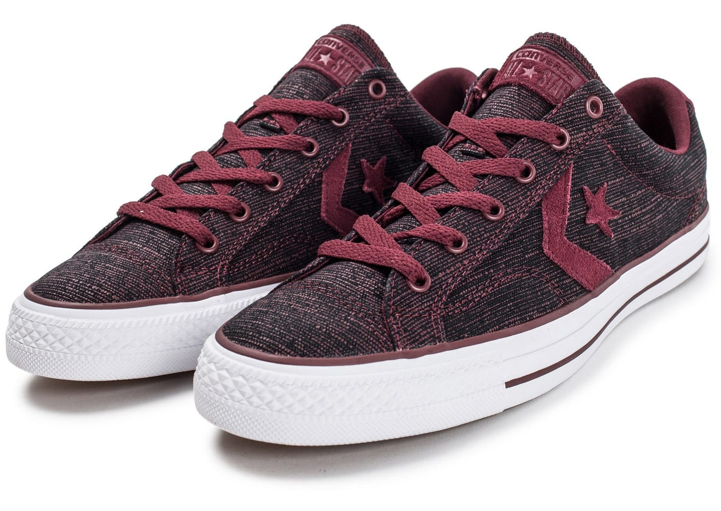Converse Star Player OX bordeaux Chaussures Baskets homme