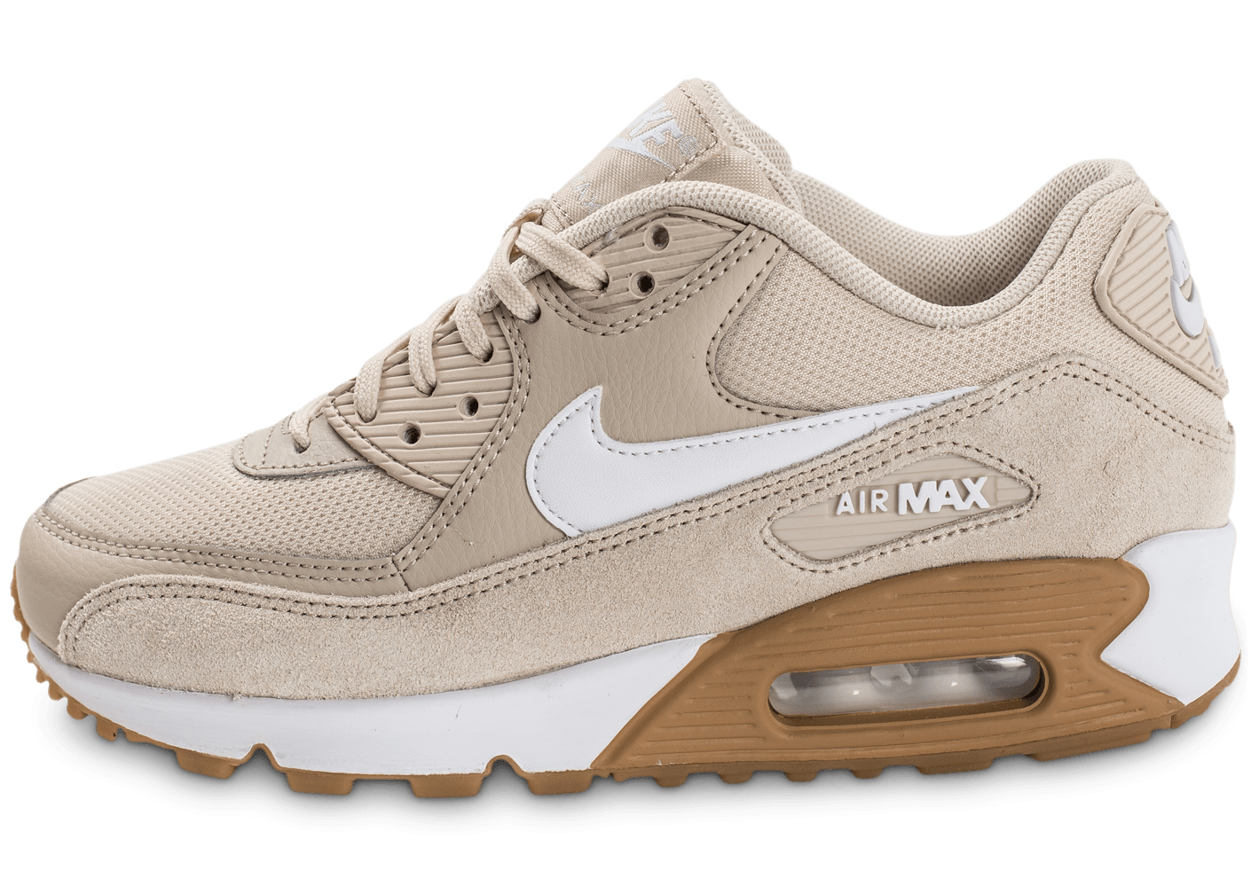 cheaper 8cd34 bb61a Nike Air Max 90 W beige - Chaussures Baskets femme - Chauspo