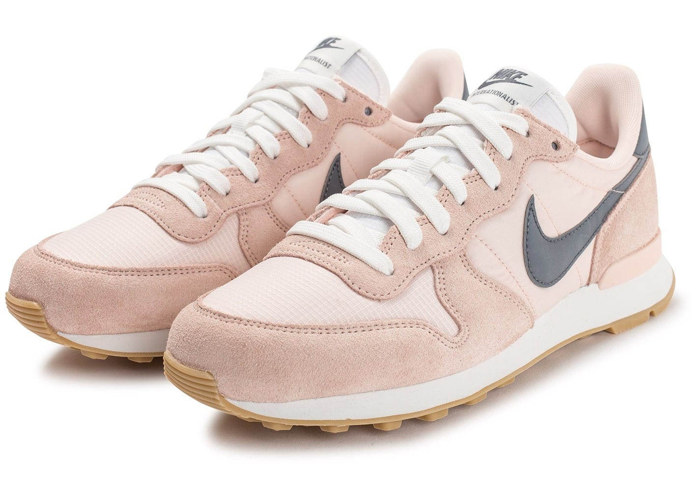 nike internationalist femme rose et gris