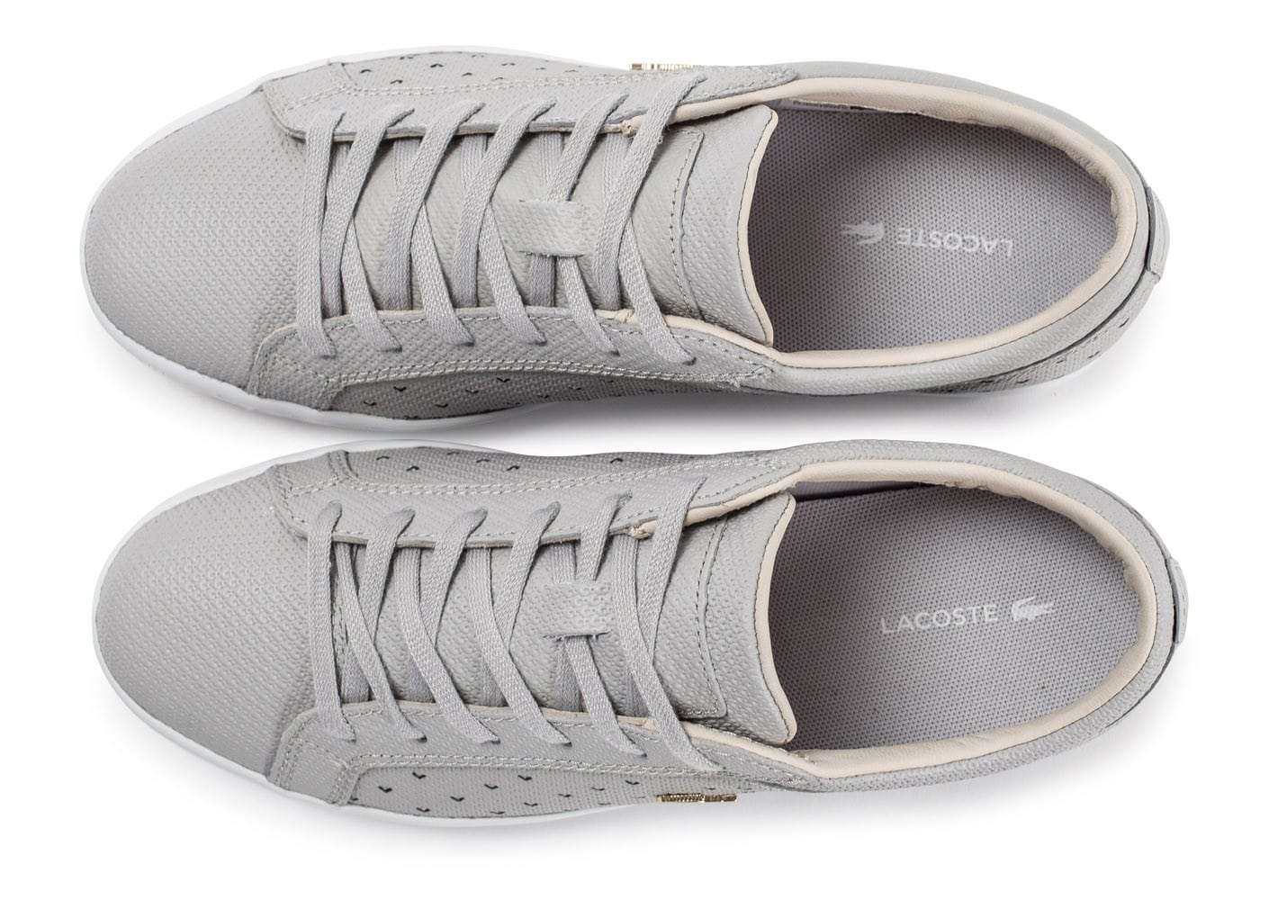 03321ec6bf7a Lacoste Straightset 117 grise - Chaussures Baskets femme - Chausport