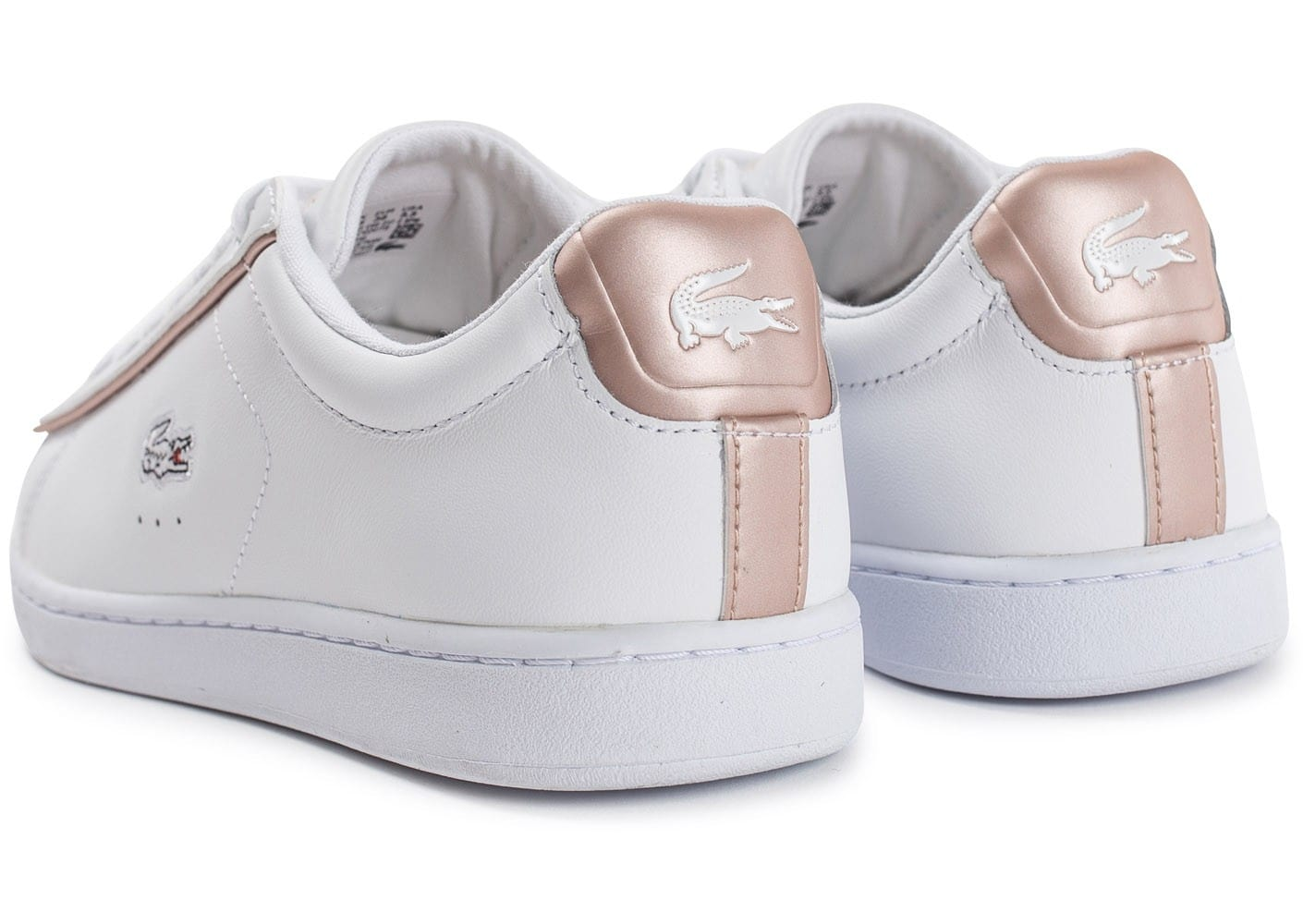 san francisco vente discount disponible Lacoste Carnaby EVO blanche et rose perle - Chaussures Baskets ...