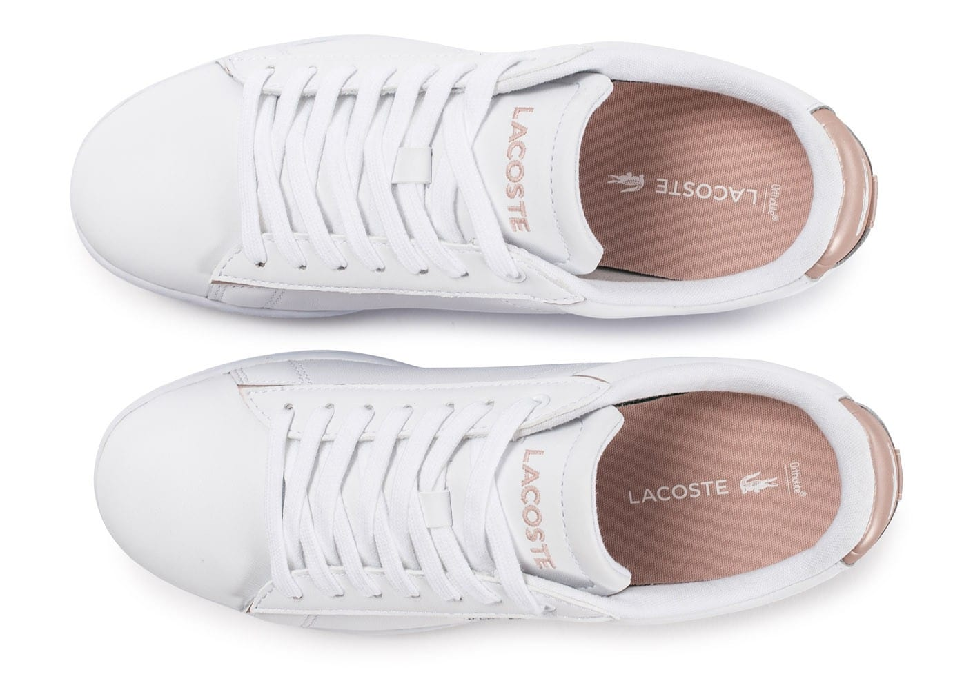 Baskets Perle Carnaby Et Chaussures Evo Femme Lacoste Blanche Rose Rj5LA4