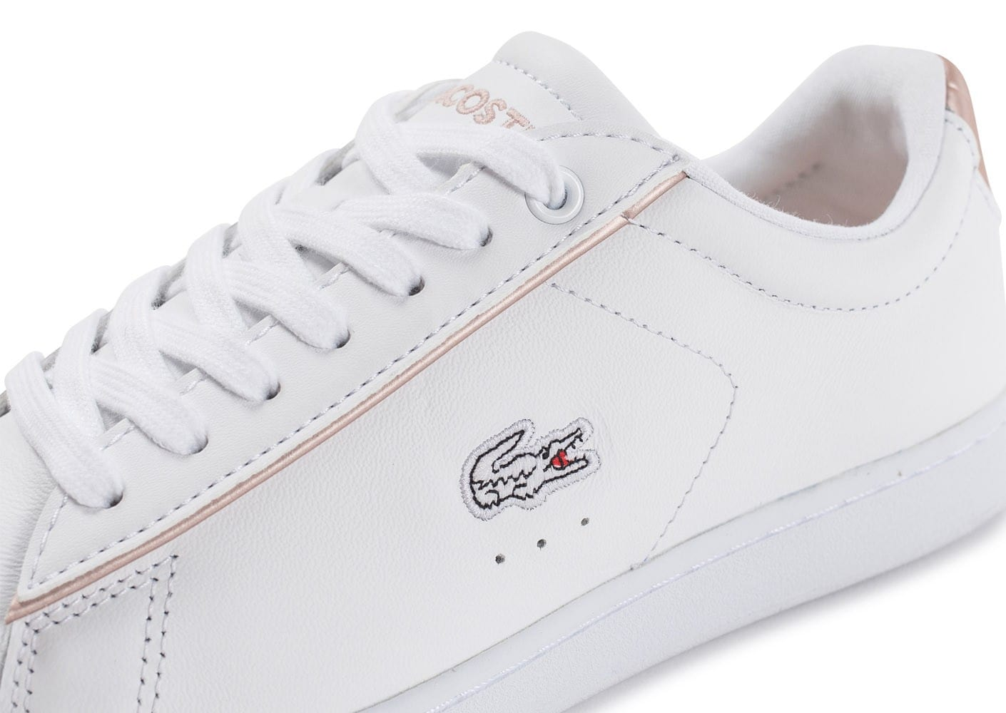 2d6b08eba7917 Chaussures Et Baskets Femme Perle Lacoste Blanche Evo Rose Carnaby YxwqR7pt
