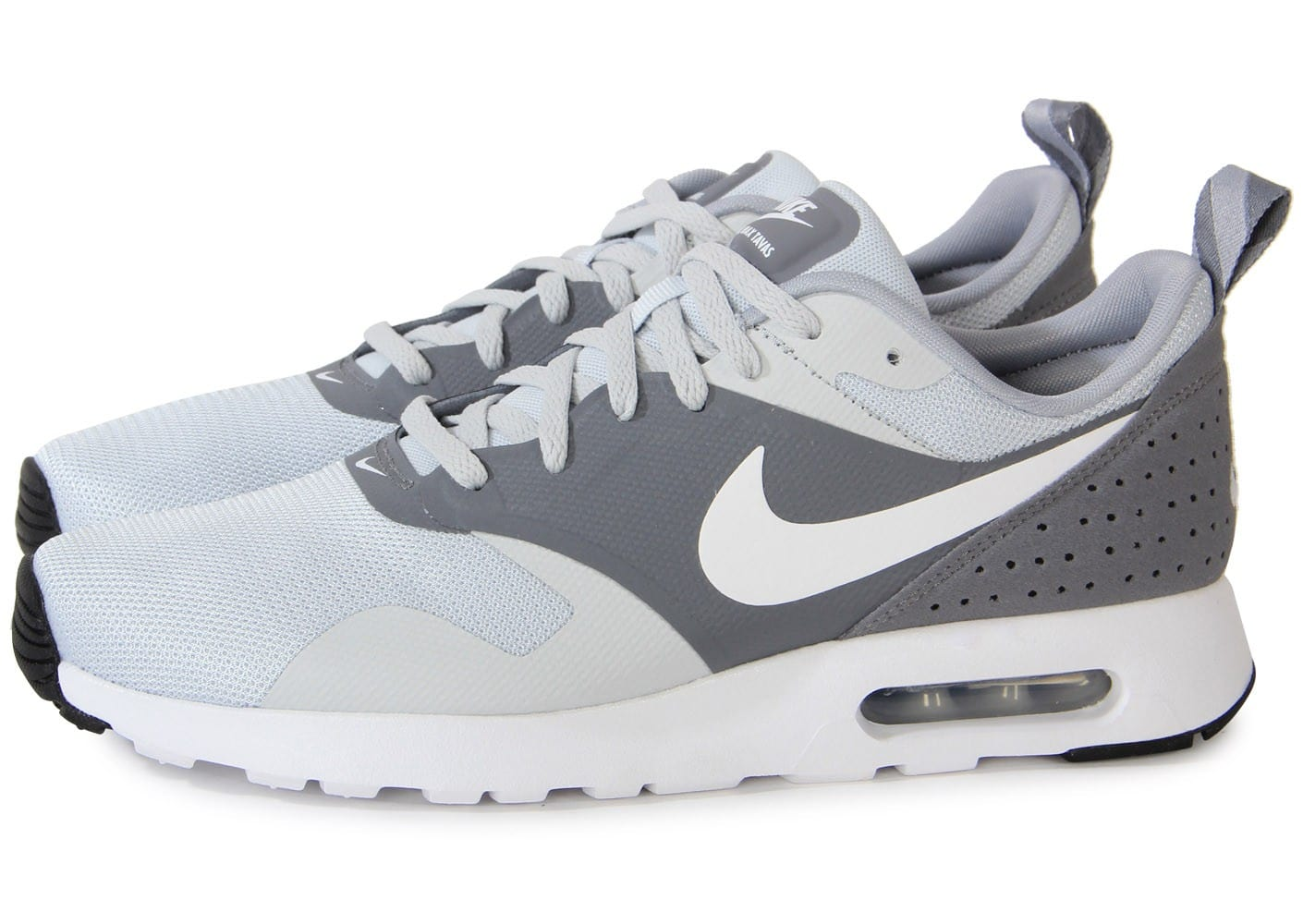Nike Air Max Tavas Blanche Grise Chaussures Baskets homme
