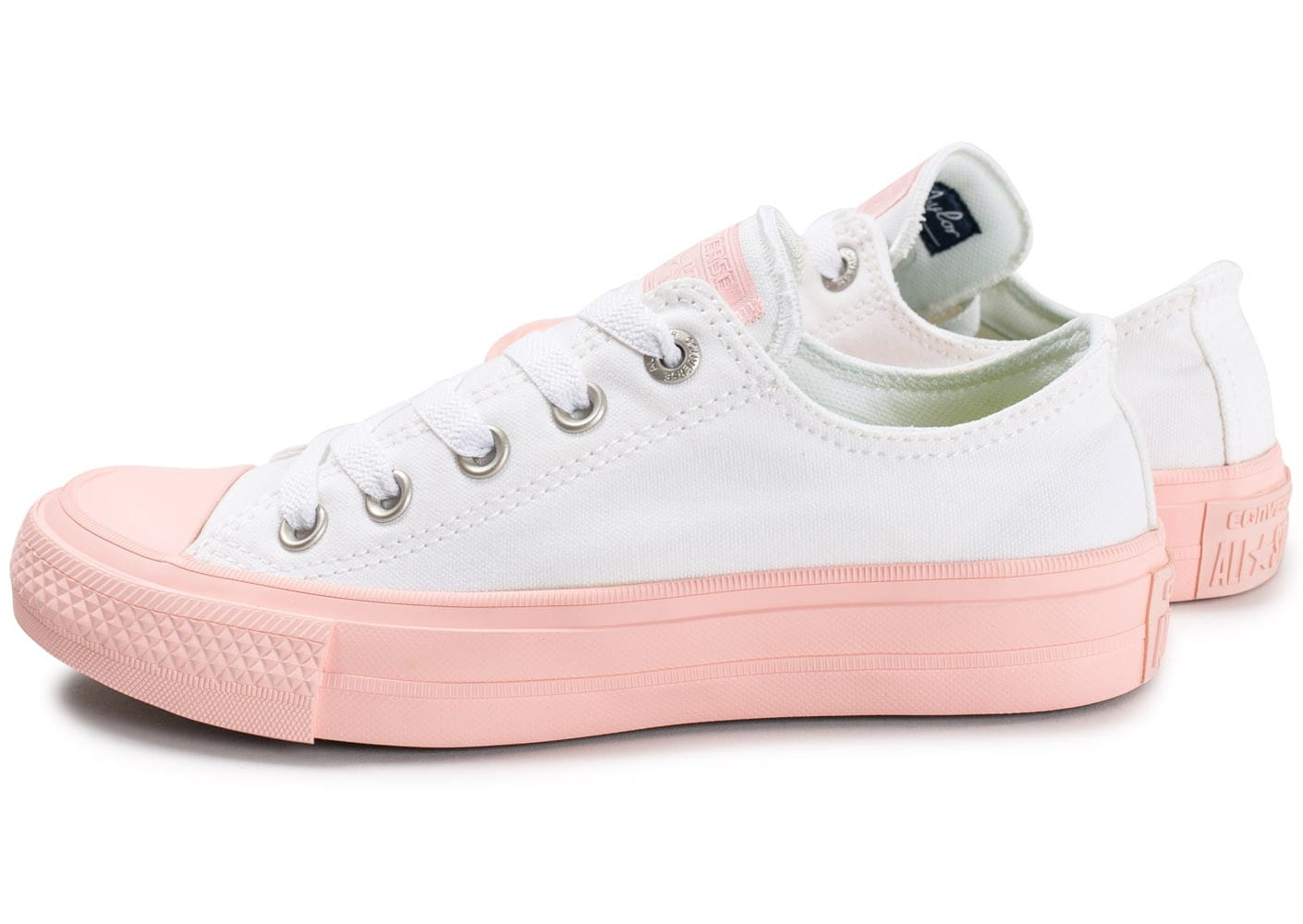 Converse Chuck Taylor All Star 2 OX W blanche et rose ...