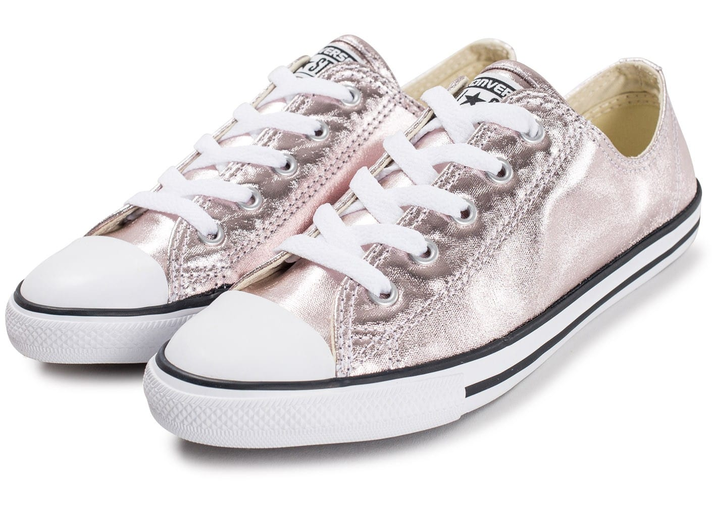 779609c0fb3 ... Chaussures Converse Chuck Taylor All Star Dainty OX Metallic rose vue  intérieure ...