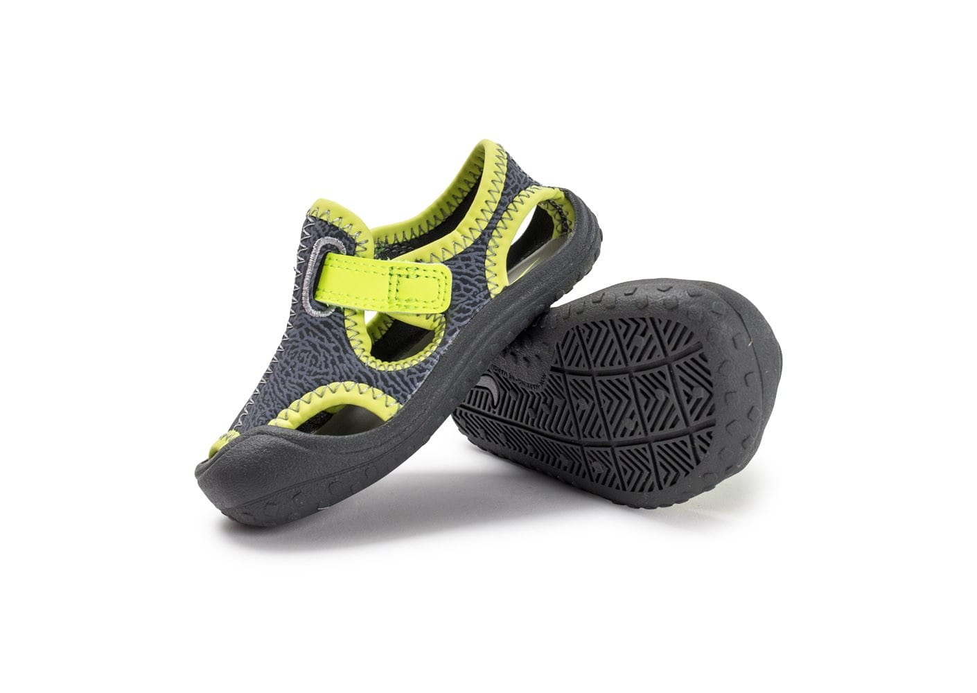low priced 49f36 f85e9 ... Chaussures Nike Sunray Protect TD Bébé grise vue avant ...