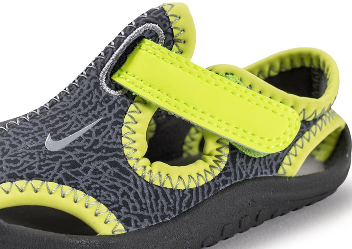 pretty nice 9f5ae 71f81 ... Chaussures Nike Sunray Protect TD Bébé grise vue dessus