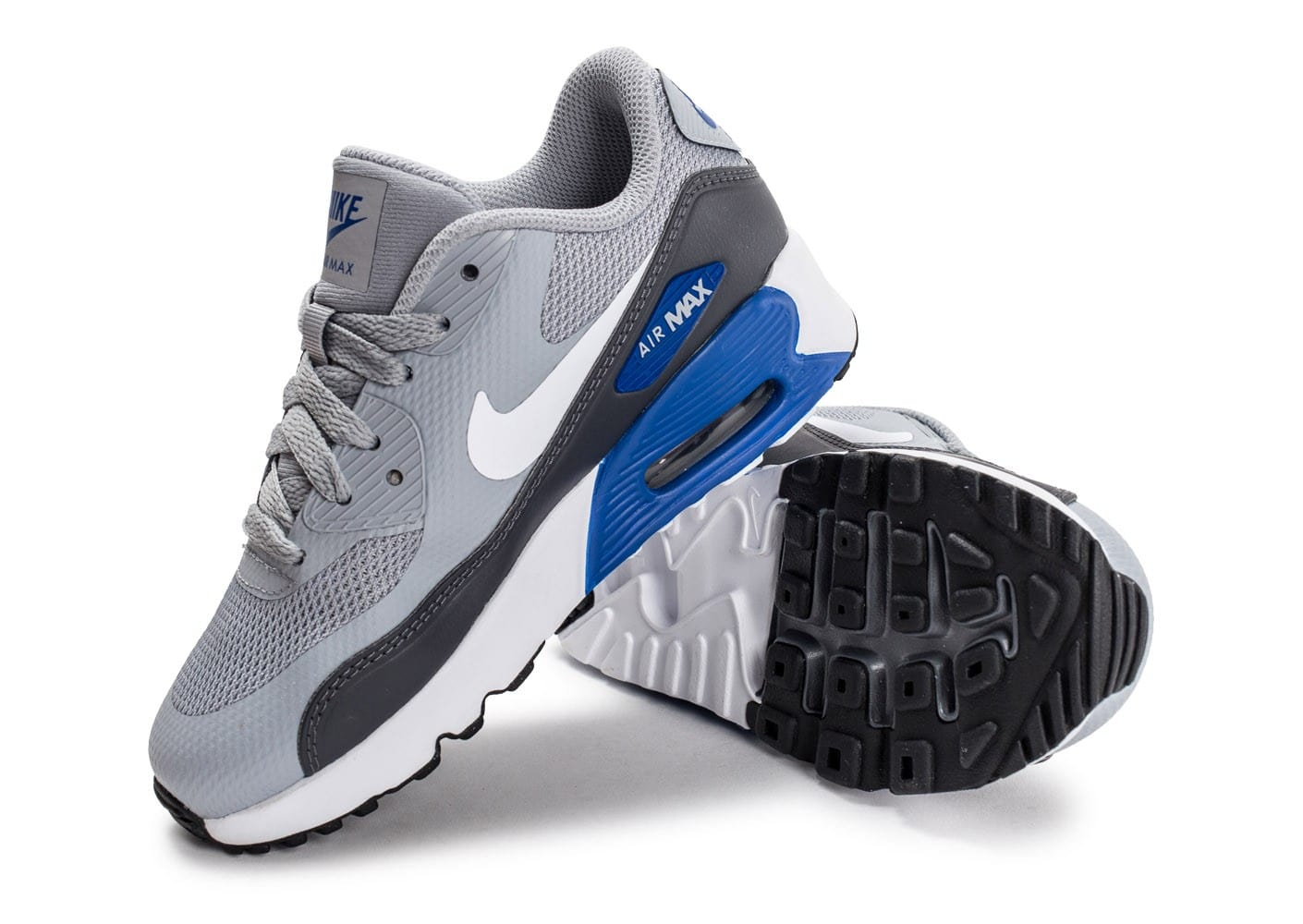 newest collection a1171 d6ff4 ... Chaussures Nike Air Max 90 Ultra 2.0 Ultra Enfant grise vue avant ...