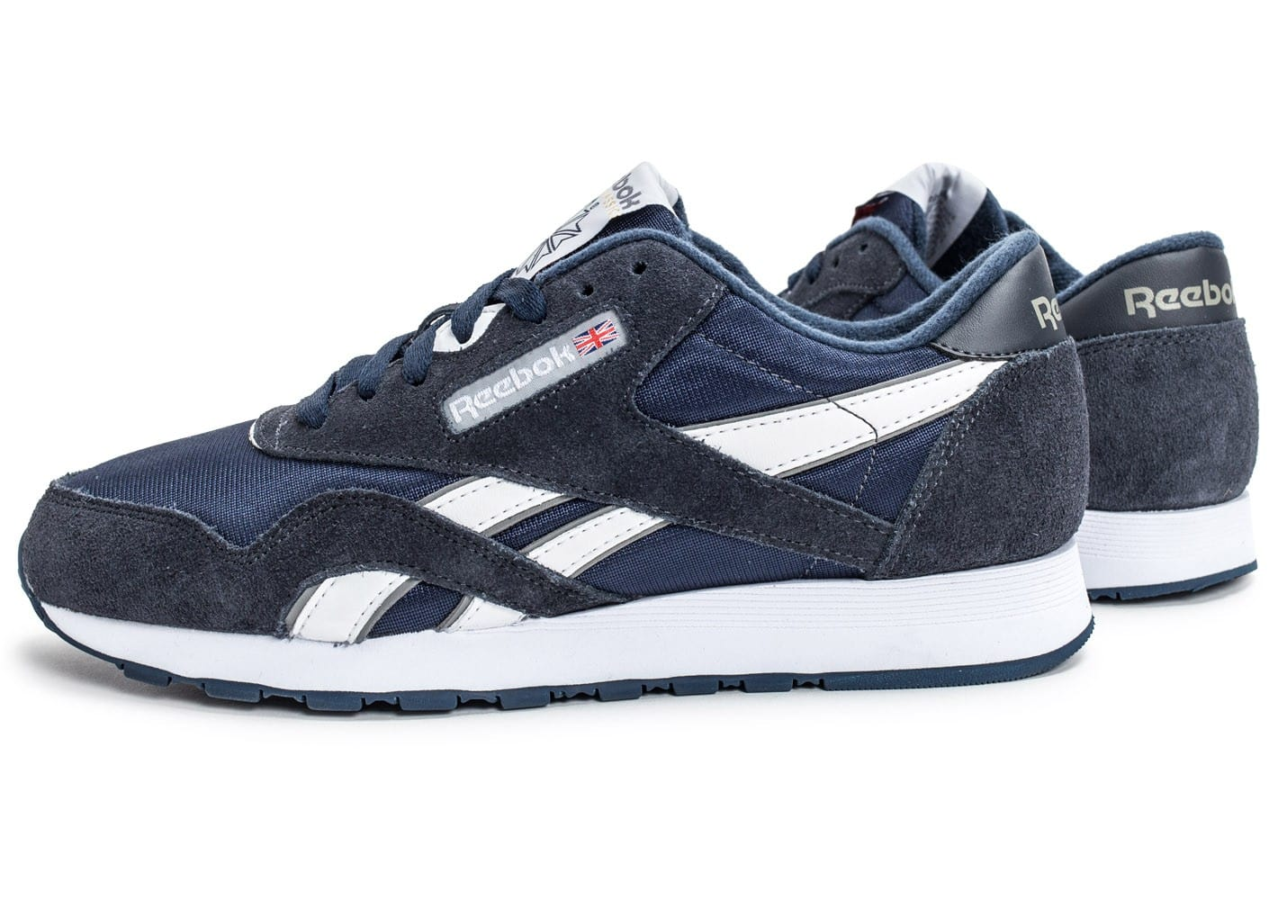 fashion style quite nice online store Reebok Classic Nylon bleu marine - Chaussures Baskets homme ...