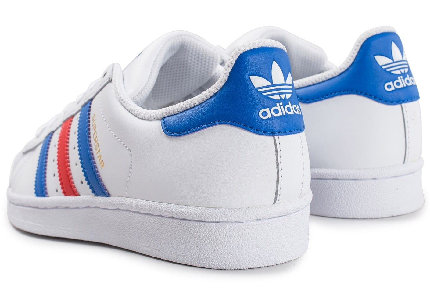 Adidas Junior Bleu Rouge Chaussures Chausport Superstar Blanc O80Pnwk