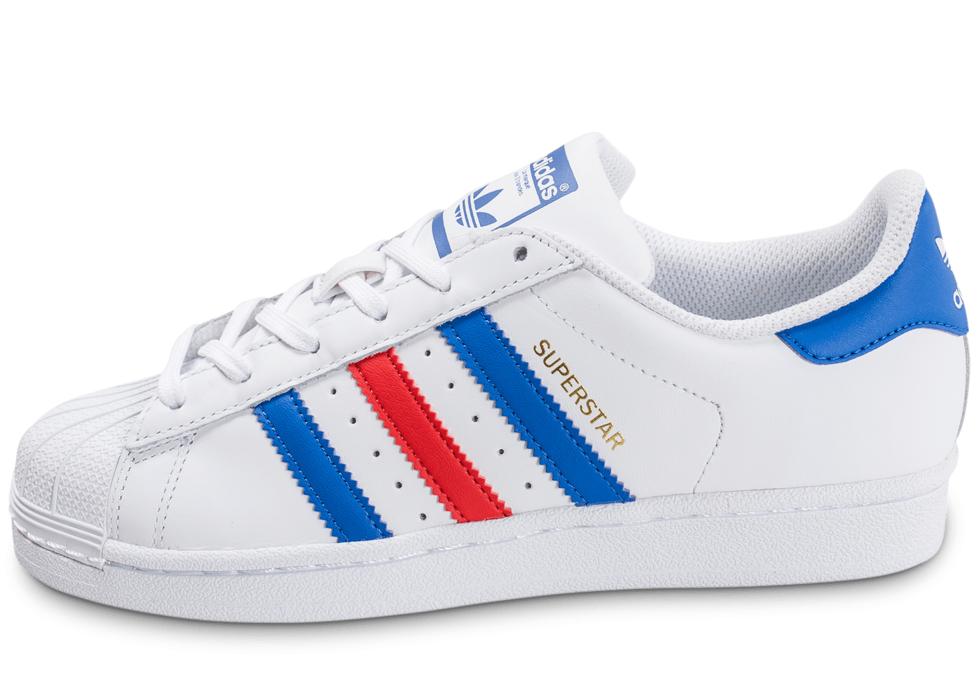 adidas Superstar Junior bleu blanc rouge