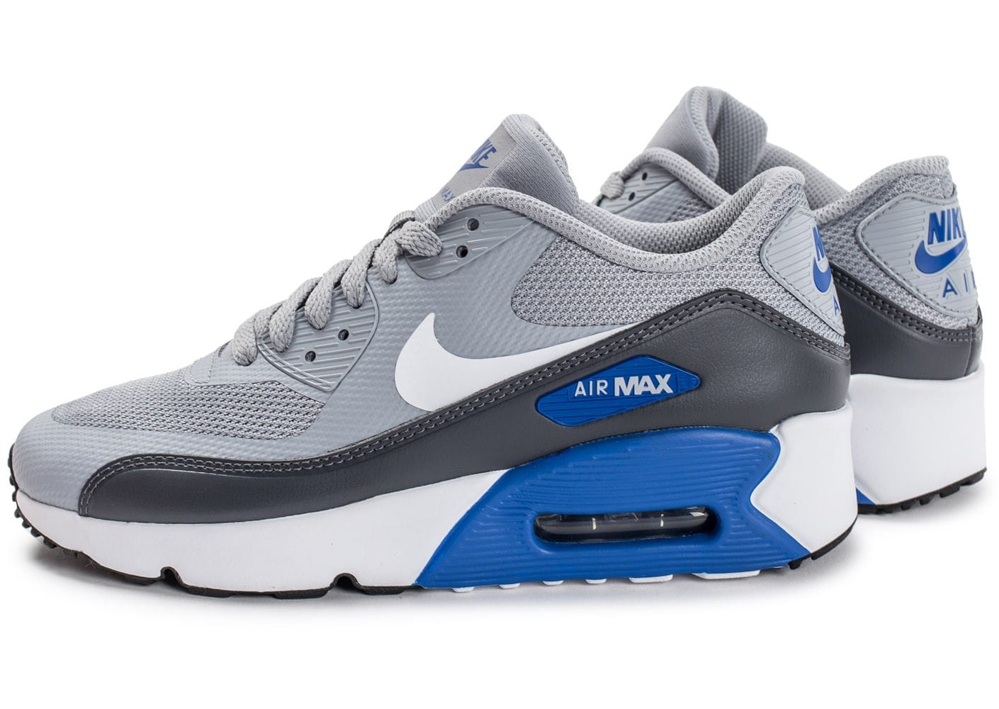 Nike Air Max 90 Ultra 2.0 Junior grise et bleue Chaussures