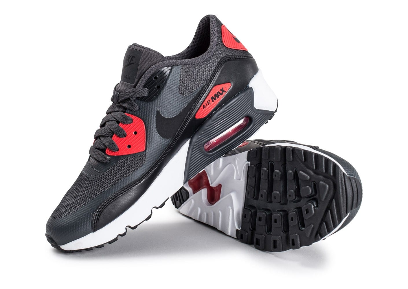 size 40 146f9 c7470 ... Chaussures Nike Air Max 90 Ultra 2.0 Junior Anthracite et rouge vue  avant ...