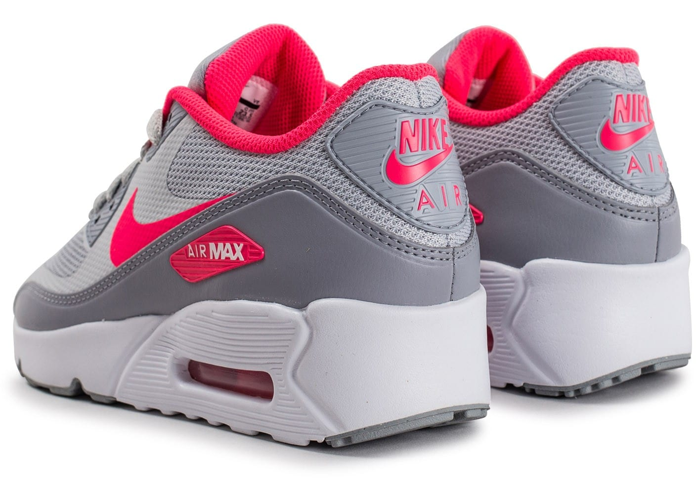 huge selection of 3c308 87909 ... Chaussures Nike Air Max 90 Ultra 2.0 Junior Pure Platinum et rose vue  dessous ...