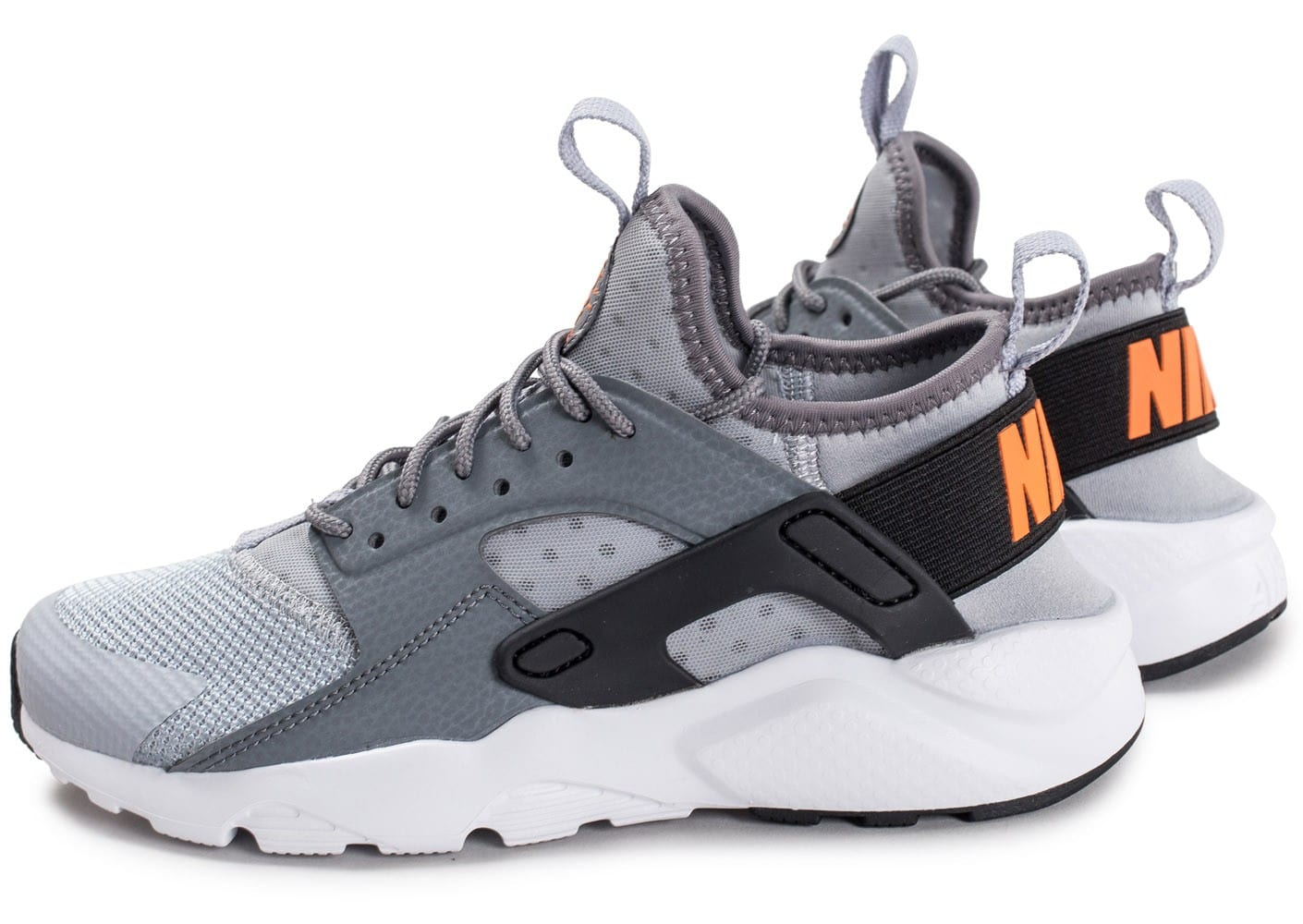 Nike Air Huarache Ultra Junior gris et orange Chaussures