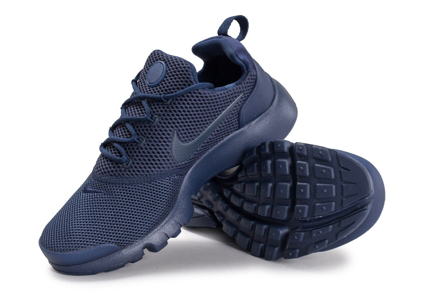 low priced df8a5 2815e ... Chaussures Nike Presto Fly Junior bleu marine vue avant ...