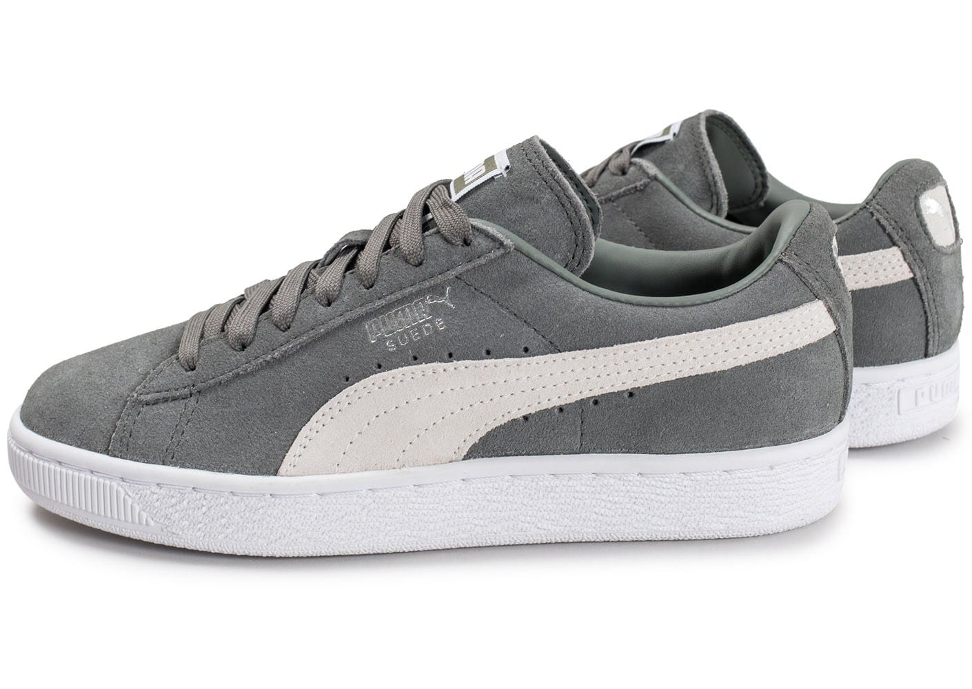 Puma Suede Classic + W grise Chaussures Baskets femme
