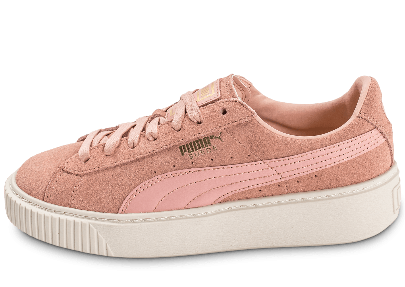 puma suede rose pale plateform