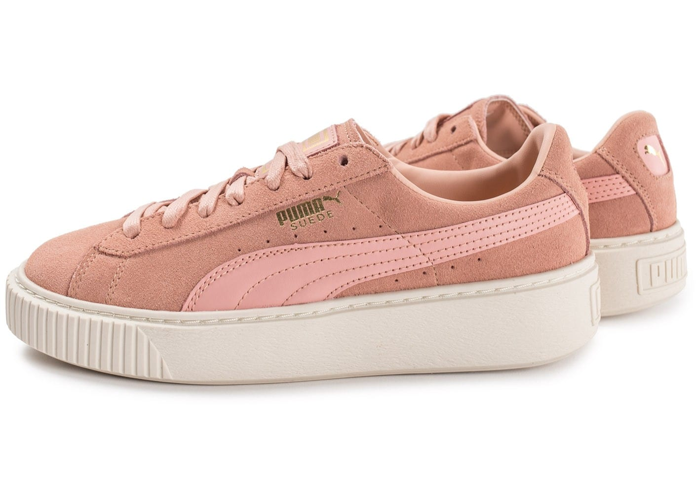 Chaussures Puma Suede roses Fashion femme GdP7AFcOqX