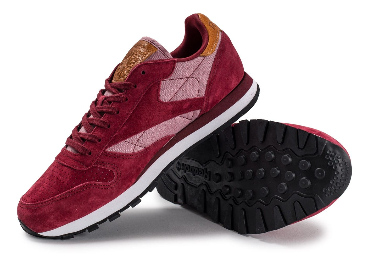 Reebok Classic Leather Chambray bordeaux Chaussures