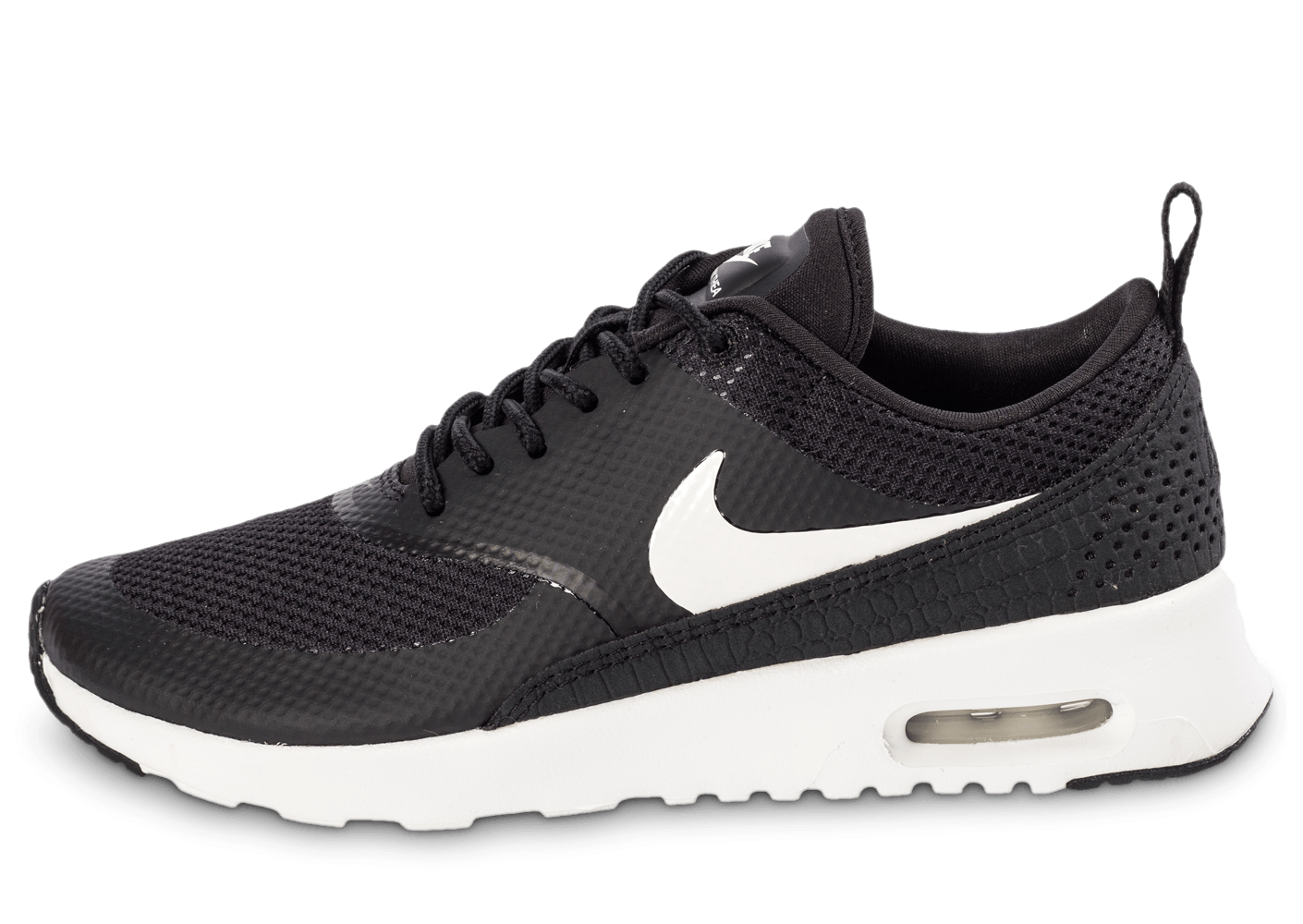 9dbce42705 Nike Air Max Thea noire et blanche - Chaussures Baskets femme - Chausport