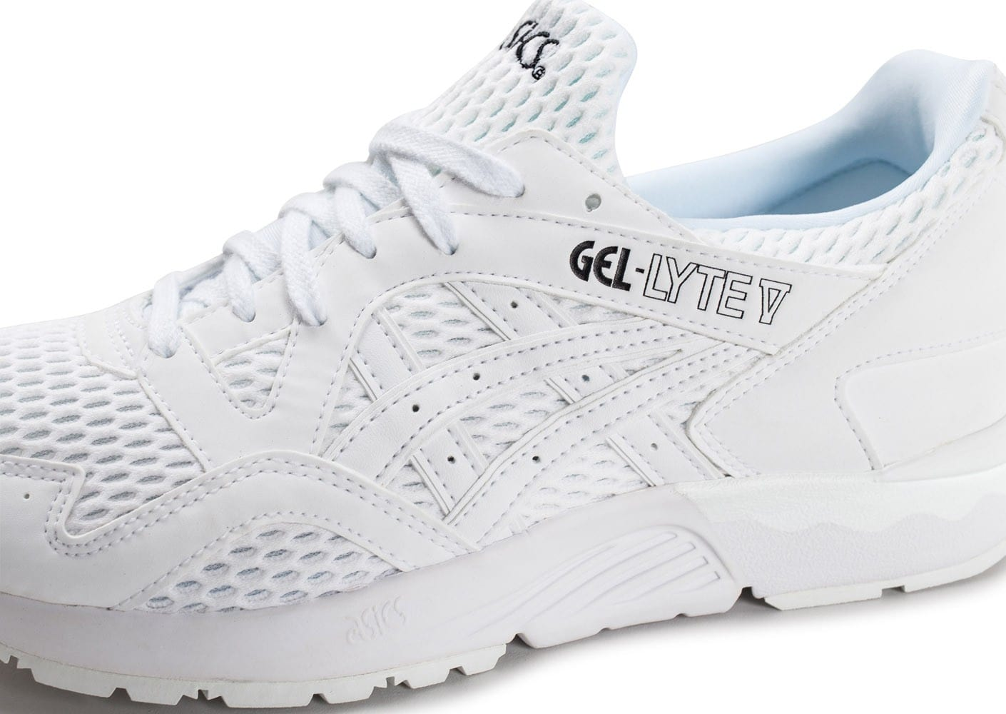 Asics Gel Lyte V blanche - Chaussures Baskets homme - Chausport b252f2a7b968