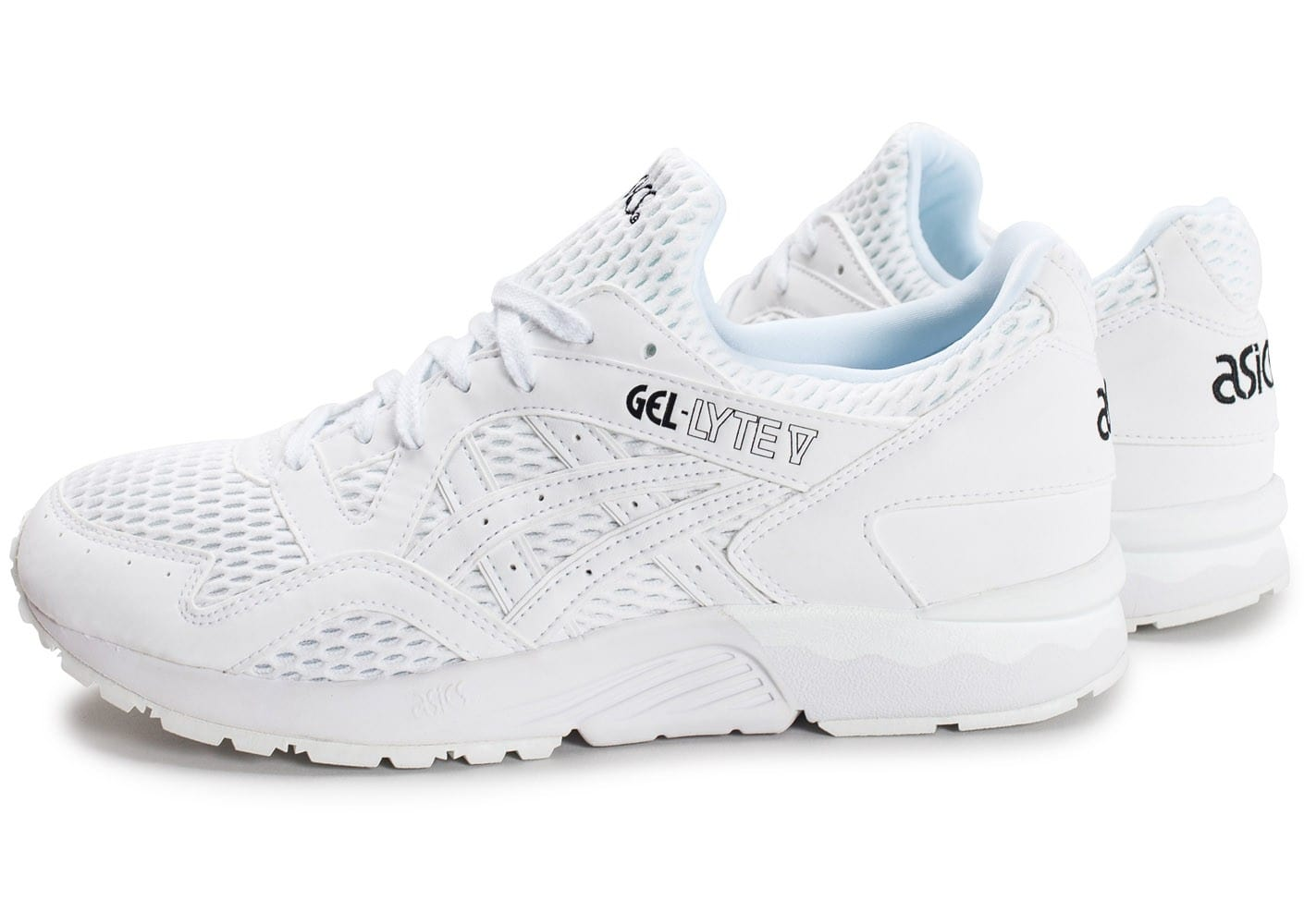asics gel lyte v blanche chaussures baskets homme chausport. Black Bedroom Furniture Sets. Home Design Ideas