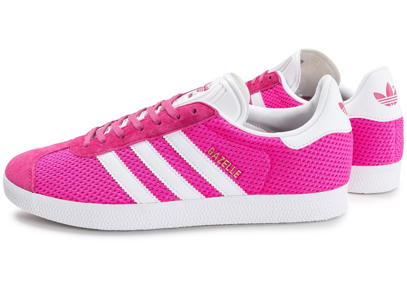 adidas Gazelle Mesh rose fluo - Chaussures Baskets homme ...