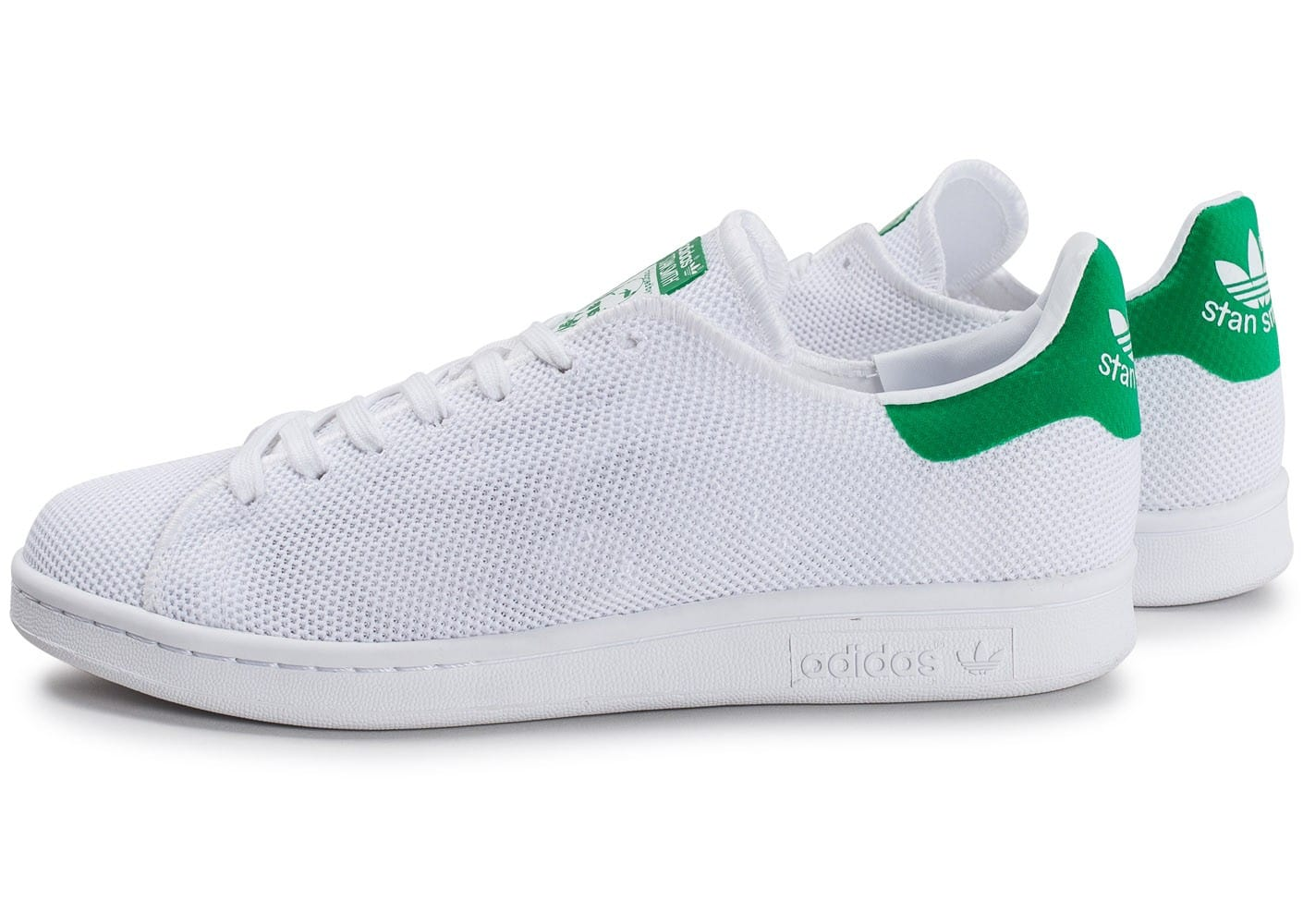 adidas Stan Smith Mesh blanche et verte Chaussures Baskets