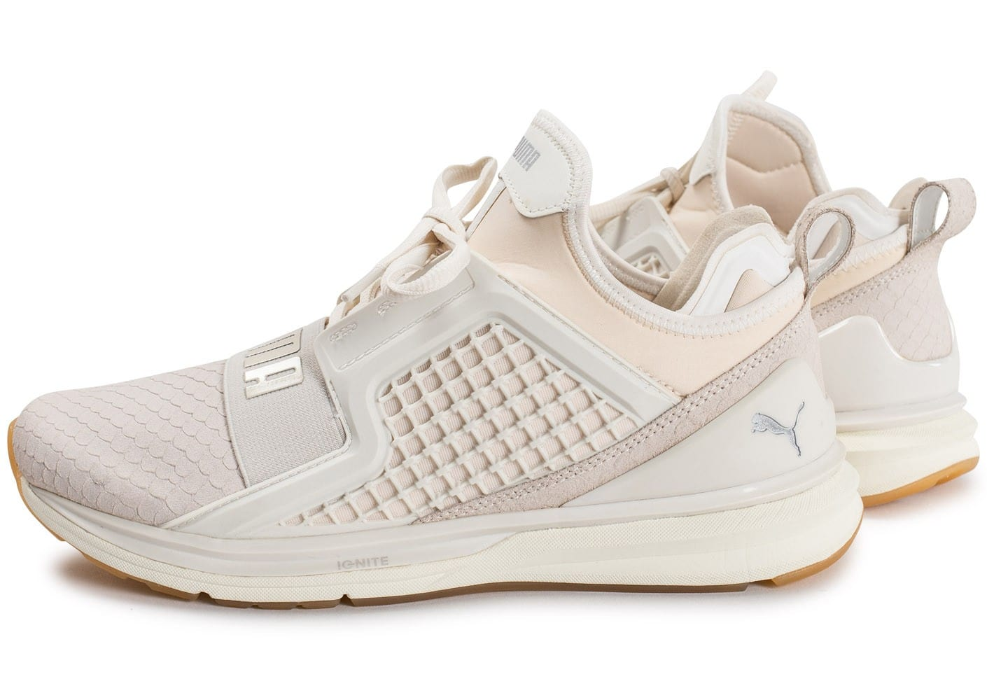 best website 315e5 e1c7d Puma Ignite Limitless Reptile blanche - Chaussures Baskets ...