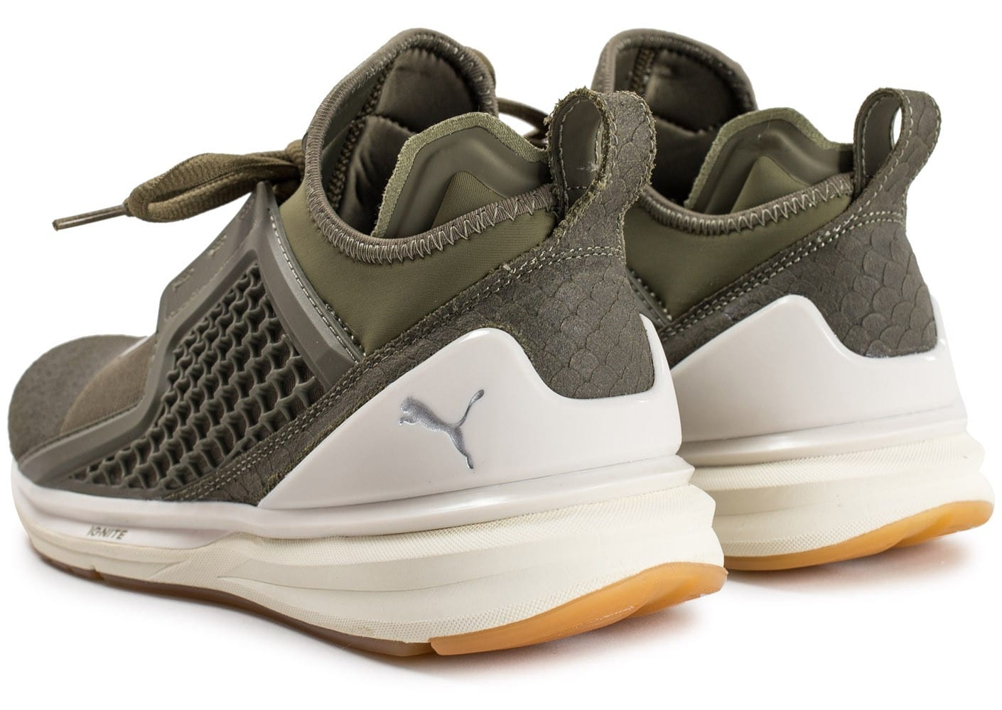 Baskets Puma Chaussures Ignite Olive Limitless Reptile Homme
