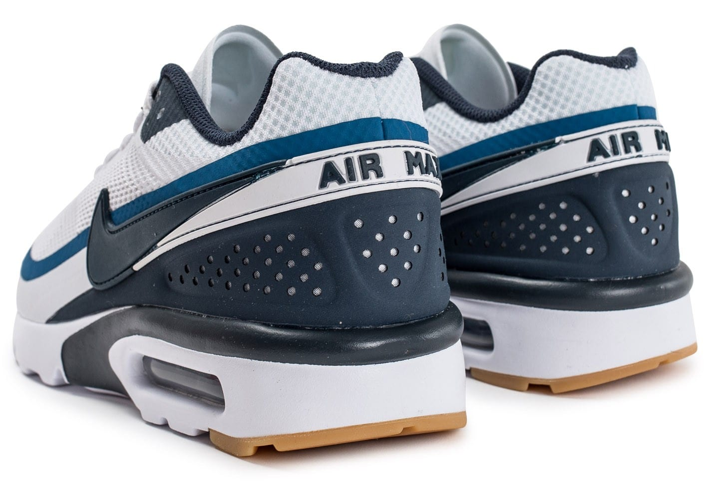 size 40 dddb6 215aa ... Chaussures Nike Air Max BW Ultra blanche et bleue vue dessous ...