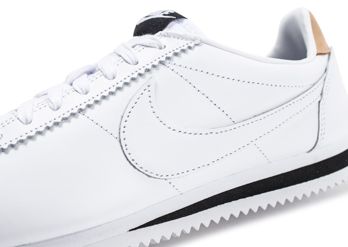 new concept b763b b7fcd ... Chaussures Nike Cortez Leather Se blanche vue dessus