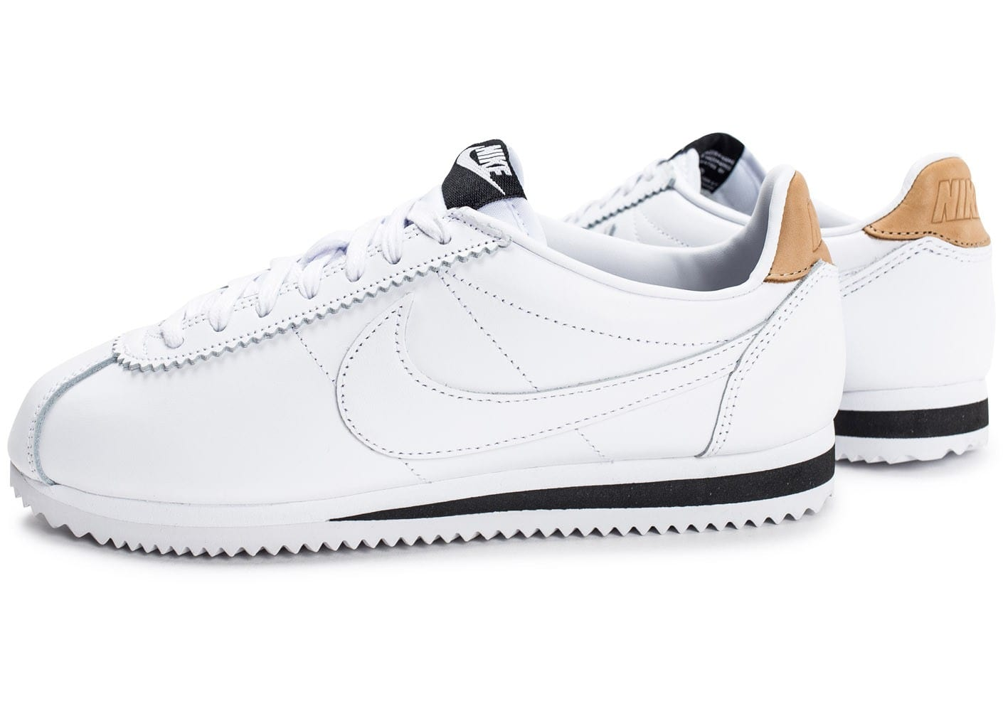 nike cortez leather blanche