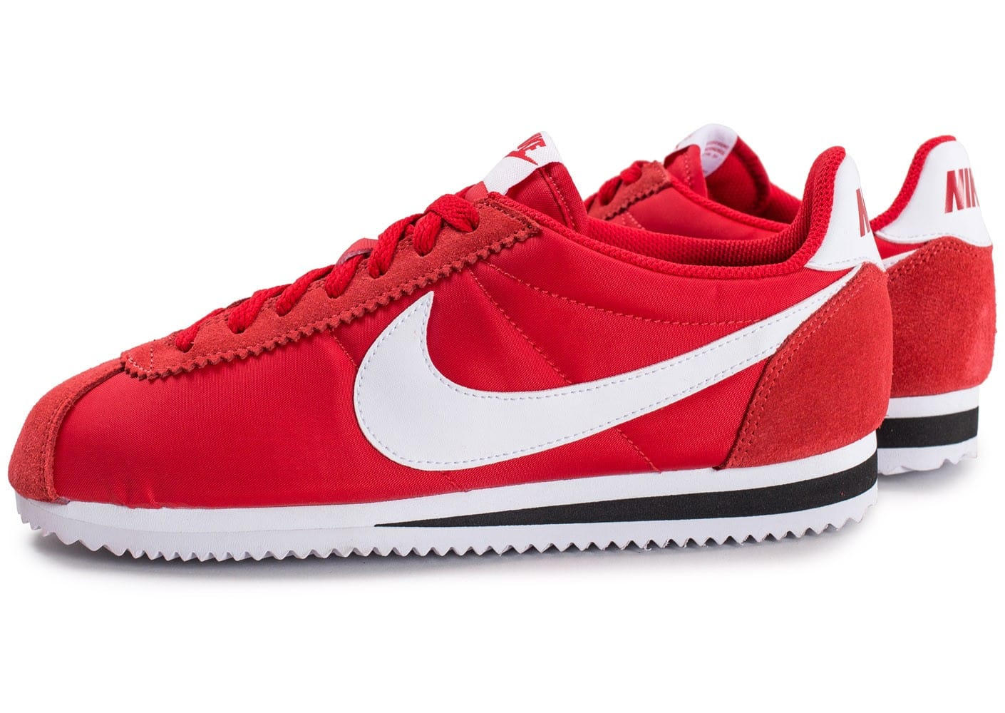 Nike Cortez Nylon rouge Chaussures Baskets homme Chausport