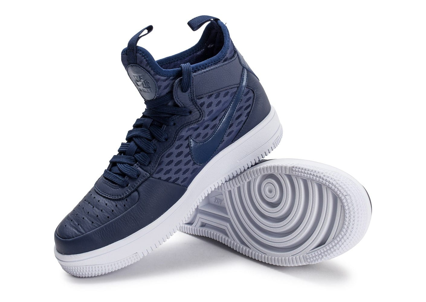 Homme Baskets Nike Chaussures Force Ultraforce Mid Air 1 Bleue CodxBre