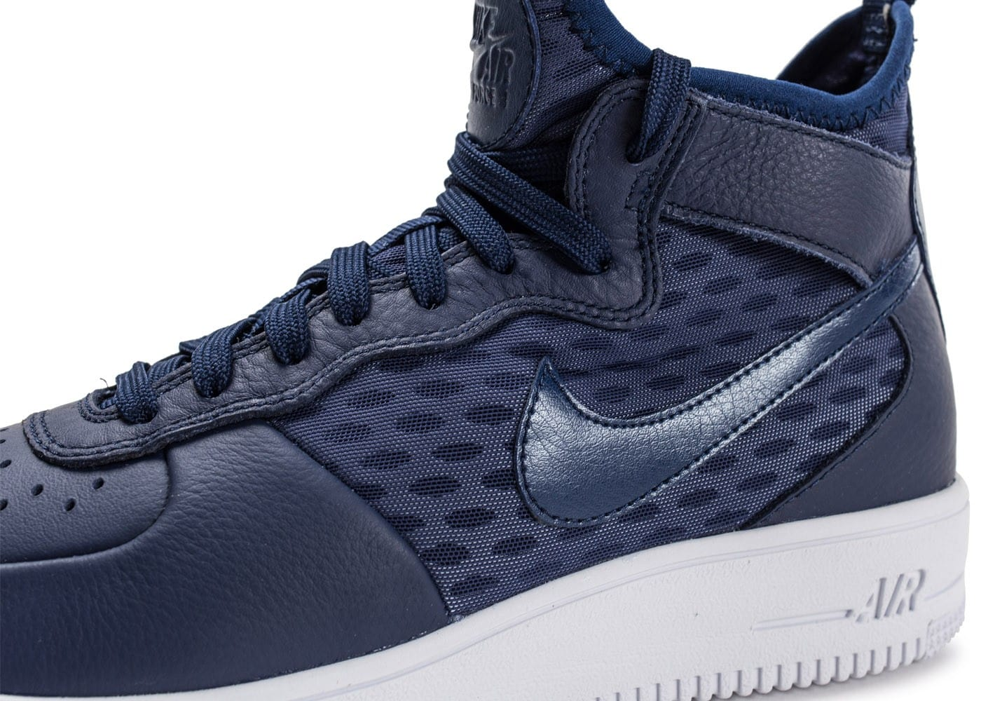eaa49e922600 Nike Air Force 1 UltraForce Mid bleue - Chaussures Baskets homme ...