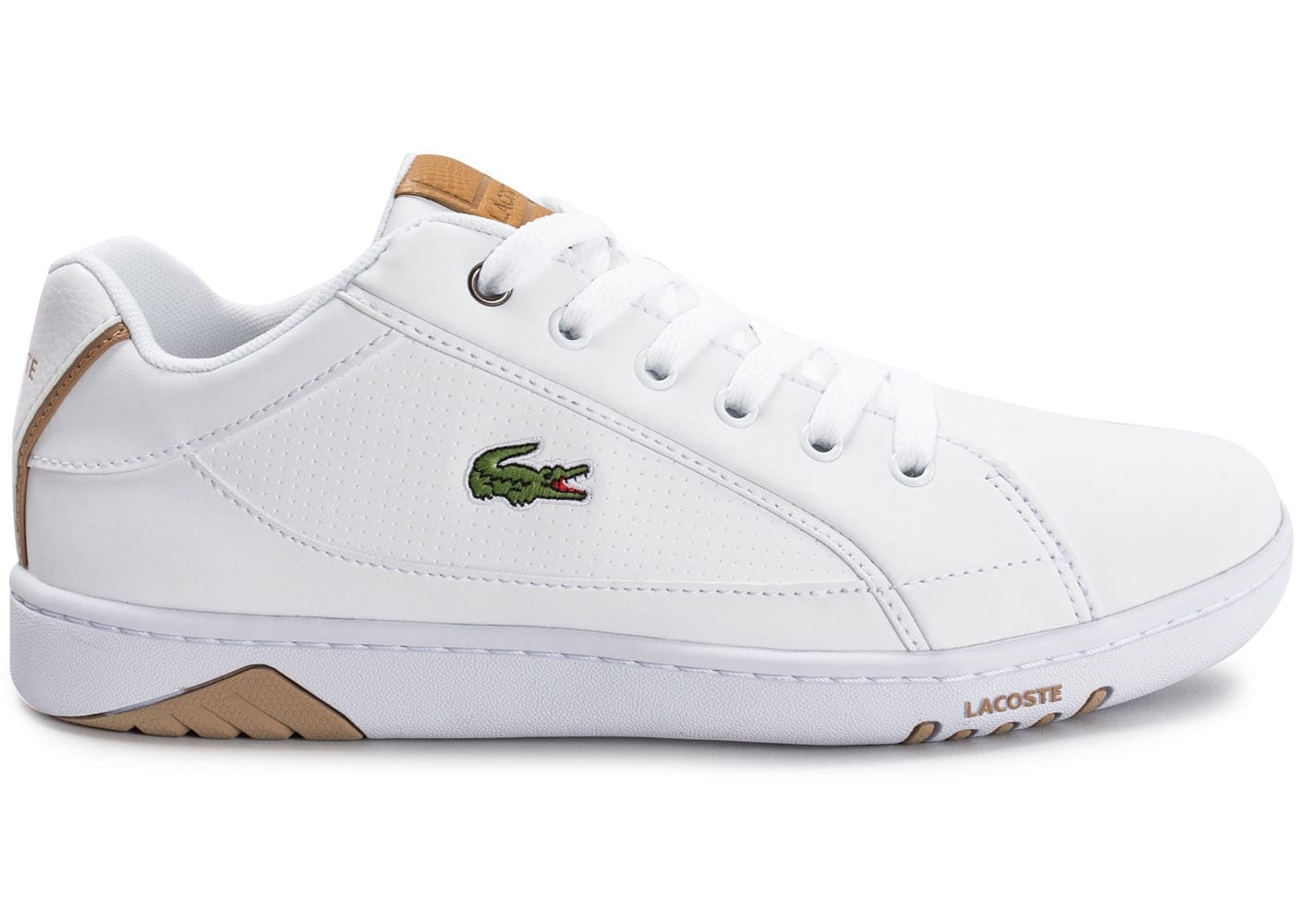 Deviation Lacoste Baskets Chaussures Homme Blanche Vpzqhh Chausport DHE2IW9