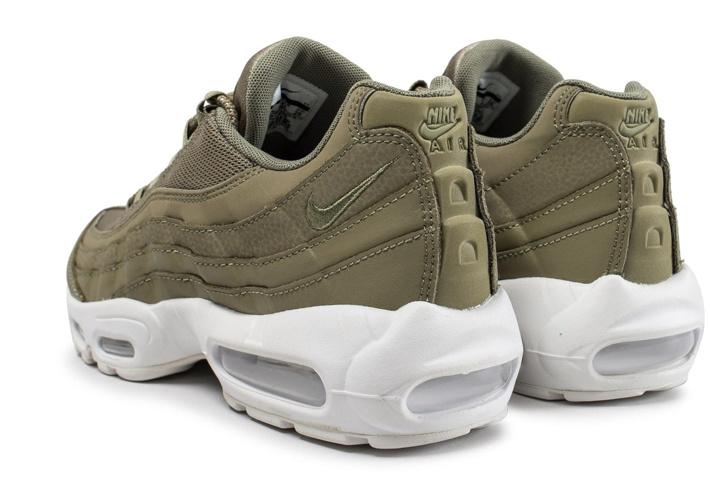 official photos 0c161 4e64f ... Chaussures Nike Air Max 95 Essential kaki vue dessous ...